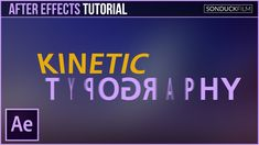 After Effects Tutorial: Kinetic Typography Motion Graphics