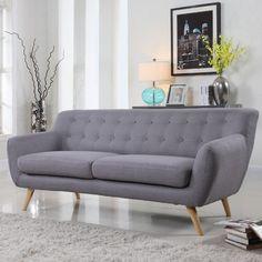 Mid-century sofa Grey  $494  www.allmodern.com
