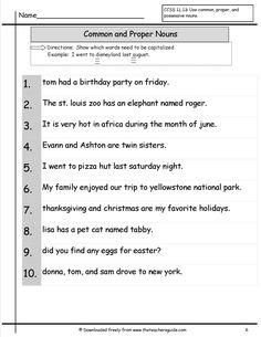 English Grammar Noun Worksheet for Grade 1 Elegant Mon and Proper Nouns Worksheet Proper Nouns Worksheet, Possessive Nouns Worksheets, English Grammar Worksheets, Nouns And Verbs, 2nd Grade Worksheets, Coloring Worksheets, Plural Nouns, Free Worksheets, Nouns First Grade