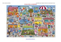 great material to print out for memory games, mazes and just fun to look at pictures Teaching Spanish, Teaching English, Learning Through Play, Kids Learning, Vocabulary Practice, Hidden Pictures, Thematic Units, Naive Art, Sewing Art