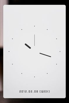 simple clock without any distraction.