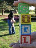 Baby gender announcement photo idea.