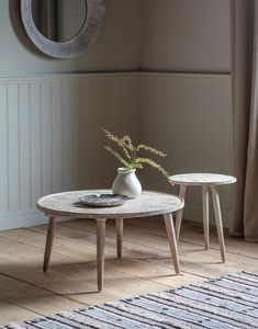 Living Furniture, New Furniture, Table Furniture, Wooden Side Table, Round Side Table, Al Fresco Dining, Nesting Tables, New Home Gifts, Living Spaces