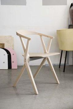 Silla moderna / apilable / plegable / de madera B BD Barcelona Design