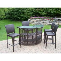 Cool 53 Best Bar Height Patio Furniture Images In 2014 Patio Home Interior And Landscaping Mentranervesignezvosmurscom