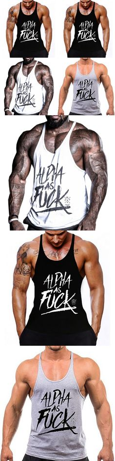 Professional Loose Fitness Singlet Male Bodybuilding Trainer Deepened the Word Vest Exercise Vest Male Tank Top