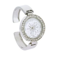 Crystal Sparkling Snowflake Fashion Cuff Watch