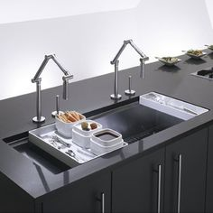 GM> LIKE: large 1-basin sink seems handy for food prep. ISSUES: will it fit? is it too modern looking? prefer porcelain/cast iron, not stainless.   Kohler Stages 45-inch Stainless Steel Kitchen Sink | Overstock.com $1200