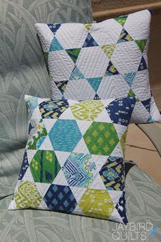You can make these 2 pillows from a charm pack and 5/8 yard of one additional fabric! They are fast and fun to make. I have plans to mak...