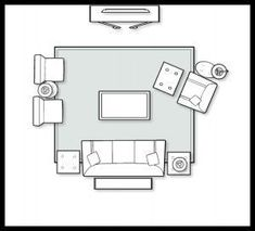 General rules of thumb for furniture layout...need to remember this for my next furniture purchase