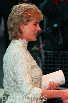July 4, 1996: Princess Diana wore an ivory pearl-studded shalwar kameez to the Shaukat Khanum Memorial Hospital Cancer fundraiser at the Dorchester Hotel, London.