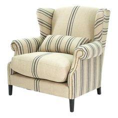 Faux Grain Sack Chair