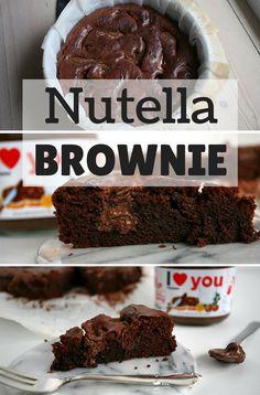 Den ultimative brownie med masser af Nutella og en intens chokoladesmag. At kagen er mega nem at lave, gør den kun endnu bedre.