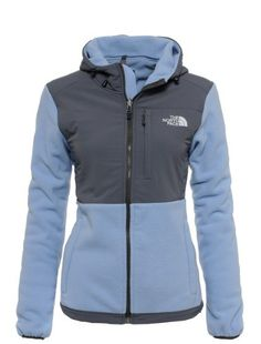 north face jacket,$69,  Womens The North Face Denali Fleece Hoodie Light Blue