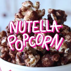 Yummy, easy, crispy Nutella popcorn!