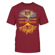 Iowa State Cyclones - Living Roots Delaware T-Shirt, TIP: If you buy 2 or more (hint: make a gift for someone or team up) you'll save quite a lot on shipping.  Click the GREEN BUTTON, select your size and style.  The Iowa State Cyclones Collection, OFFICIAL MERCHANDISE  Available Products:          Gildan Unisex T-Shirt - $24.95 Gildan Women's T-Shirt - $26.95 District Men's Premium T-Shirt - $27.95 District Women's Premium T-Shirt - $29.95 Next Level Women's Premium Racerback Tank - $29.95…