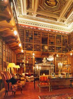 reminds me of Beauty and the Beast - I would love floor to ceiling bookshelves