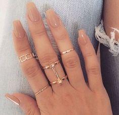 45 short coffin acrylic nail designs for this season – spring nails – short acrylic nails coffin – Acrylic Nail Designs, Nail Art Designs, Nails Design, Neutral Nail Designs, Hair And Nails, My Nails, Diva Nails, Uv Gel Nails, Nail Ring