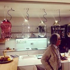 BULTHAUP BIARITZ BABY BUBBLE('s)   La cuisine   DARK® #lighting #blownglass #LED #interiordesign #showroom Biaritz France   www.bulthaup.fr