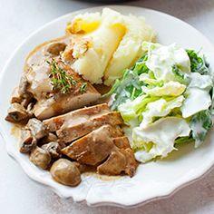Filety z kurczaka w sosie pieczarkowym | Kwestia Smaku