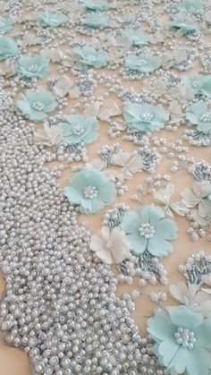 Wonderful Ribbon Embroidery Flowers by Hand Ideas. Enchanting Ribbon Embroidery Flowers by Hand Ideas. Pearl Embroidery, Tambour Embroidery, Bead Embroidery Patterns, Couture Embroidery, Hand Embroidery Designs, Embroidery Dress, Embroidery Stitches, Wedding Embroidery, Tambour Beading