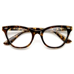 Womens Retro 1950's Fashion Clear Lens Cat Eye Glasses 9276 | zeroUV