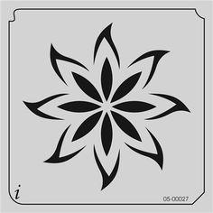 05-00027 Big Flower Stencil