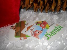 5 Disney Gift Tags  Bambi and Friends  by ButterflyInTheAttic, $3.95 @Postcards In The Attic