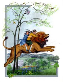 narnia illustrations - Google Search Narnia Book Series, Chronicles Of Narnia Books, Tribal Tattoos, Tattoos Skull, Conquistador, Aslan Narnia, The Silver Chair, Narnia Prince Caspian, Nursery Pictures