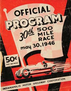 1946 Indianapolis 500 official event program