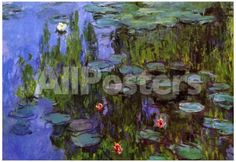 Claude Monet Water-Lilies Art Print Poster by Guido Borelli Landscapes Poster - 48 x 33 cm