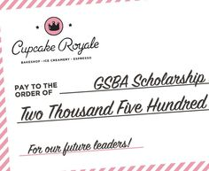 In June we raised $2500 from the sales of The Gay cupcakes and pride merch to be donated to the @thegsba Scholarship Fund. Thank you to our community for your support of the GSBA! Now come be with us as we present this donation to the GSBA team -- tomorrow (Thurs 7/13) 10am at our Capitol Hill cafe. It's super casual and there will be cupcakes! Hope to see you there. #welovethegsba