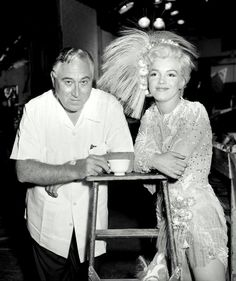 A rare photograph of Marilyn Monroe on the set of There's No Business Like Show Business.
