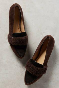 ANTHROPOLOGIE || Farylrobin Ellison Shearling-Belted Loafers