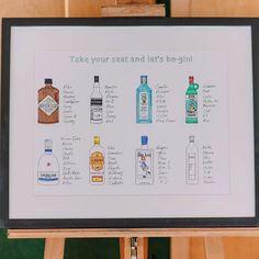 Illustrated gin table plan. Anna Pumer #wedding #gin