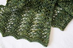 Woodland Lace by Ravelry user Acornto Oaks. Pattern:  Strangling Vine Lace Scarf by Nicole Hindes