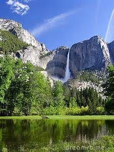 Yosemite falls. Yosemite national park. California. USA.