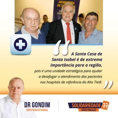 Através de duas emendas pude contribuir com a Santa Casa de Santa Isabel em R$ 100 mil e a Prefeitura R$ 80 mil. #77000 #Saúde #Social #Infraestrutura #DrGondim #votedrgondim77000