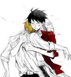 Sanji and Luffy