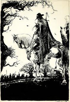 "Yoshitaka Amano  ""D-Twin Shadow Warrior I""  From Coffin: The Art of Vampire Hunter D"