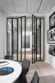 While a glass door competes tightly in a home décor realm, here's how to choose the right glass door design that'll fit your house. Interior Architecture, Interior And Exterior, Interior Doors, Modern Interior, Door Design, House Design, Office Interiors, Windows And Doors, Interior Inspiration