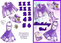 CUP223817_906 - A nice birthday card for a girl aged, 11 to 16 in an easy step by step style.