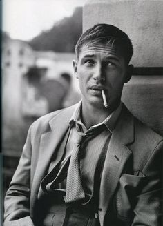 Tom Hardy    I feel like he'd give me this look a lot when I just stared after he said something in that accent. *swoon*