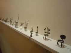 a chair a day. The tiny chairs are beautiful and well crafted!