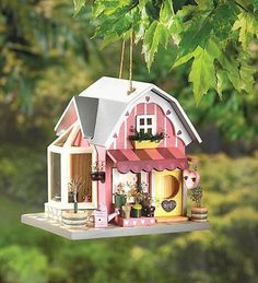 So Cute!! Flower Shop Birdhouse at CritterCreekRanch Only $17