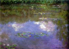 Water Lilies, The Clouds - Claude Monet