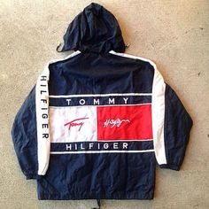 Vintage Tommy Hilfiger Light Windbreaker Big Logo Size L Coat Jacket Fashion Killa, 90s Fashion, Fashion Outfits, Fashion Weeks, London Fashion, Tommy Hilfiger Outfit, Casual Outfits, Cute Outfits, Look Vintage