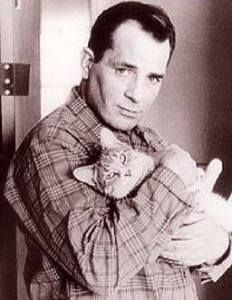 Kerouac with cat