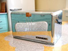60s Chrome Bread Box by OldGreenCanoe on Etsy, $28.00