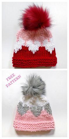 Knit Valentine Heart Hat Free Knitting Pattern & Paid – Knitting Pattern – Awesome Knitting Ideas and Newest Knitting Models Baby Mittens Knitting Pattern, Knit Hat Pattern Easy, Knitted Heart Pattern, Baby Hats Knitting, Easy Knitting Patterns, Knitting Yarn, Free Knitting, Knitting Projects, Knitted Hats Kids